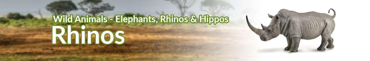 Wild Animals Rhinos banner - Click here to go back to Wild Animals