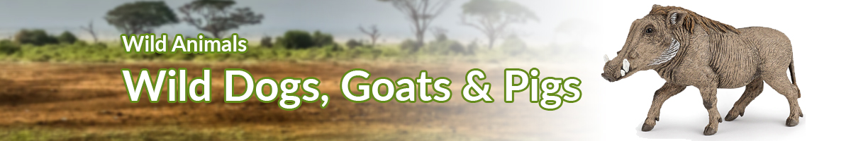 Wild Animals Dogs, Goats & Pigs banner - Click here to go back to Wild Animals
