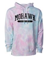 Mohawk Cheerleading Tie Dye Hooded Sweatshirt