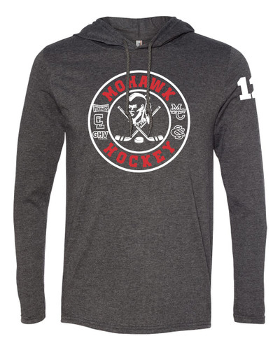 Mohawk Hockey Long Sleeve Hooded T-Shirt