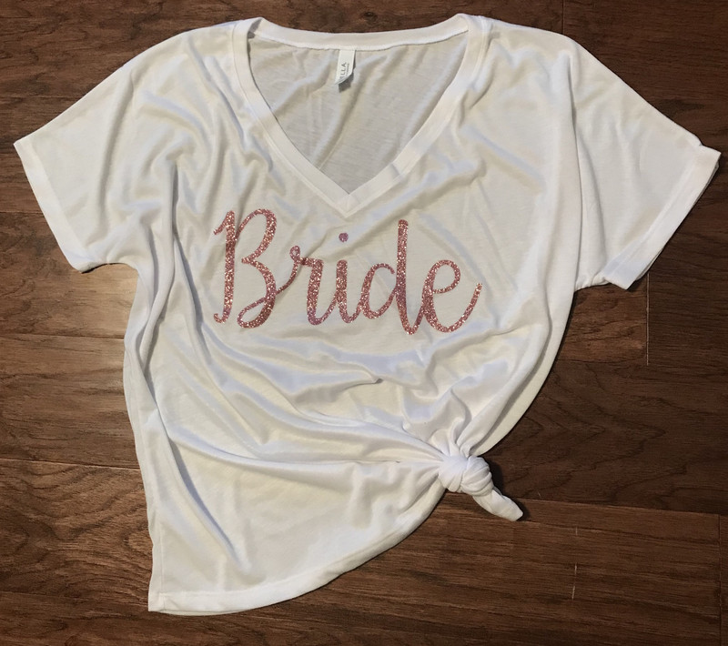 Bride Slouchy V-Neck Tee