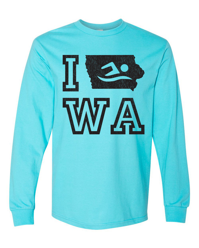 Iowa Swim Long Sleeve Shirt
