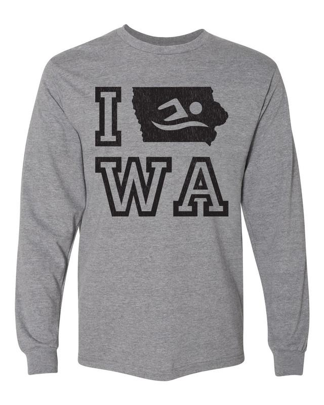 Iowa Swim Long Sleeve Shirt