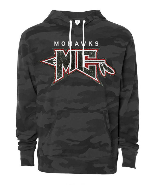 MC Mohawks Glitter Hooded Pullover