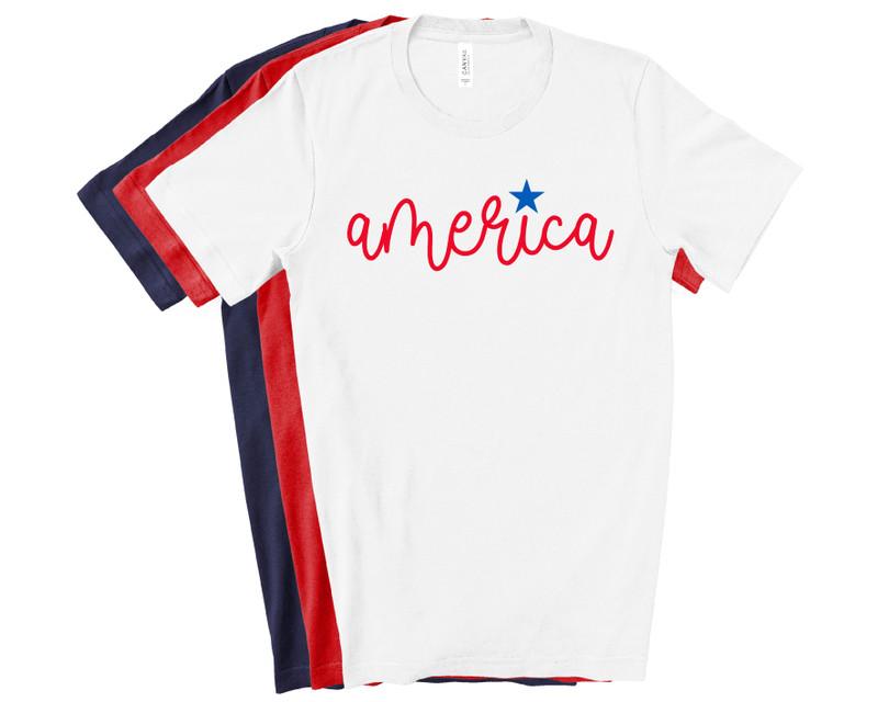 America 4th of July Tee