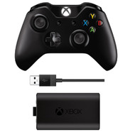 Microsoft Xbox One Wireless Controller with Play & Charge Kit (EX7-00001)