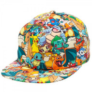 Pokemon All Over Sublimated Print Adjustable Cap