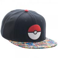 Pokemon Pokeball Sublimated Bill Snapback Hat