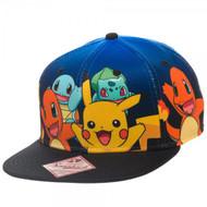 Pokemon Group Gradient Snapback Hat