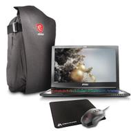 "MSI GS63VR STEALTH PRO-078 15.6"" MAX-Q FHD Gaming Laptop - Core i7-7700HQ Kabylake, 16GB RAM, 256GB SSD + 1TB HDD, GTX1070 8GB, VR Ready, Win 10"