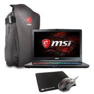 """MSI GP72MX Leopard-1214 17.3"""" Gaming Laptop - Intel Core i7-7700HQ, GTX1050, 16GB DDR4, 128GB NVMe SSD + 1TB HDD, Win10, VR Ready"""