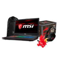 """MSI GP73 Leopard-001 17.3"""" Gaming Laptop - Intel Core i7-8750H, GTX1050TI, 16GB DDR4, 128GB SSD+ 1TB, Win10"""