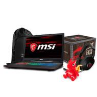 """MSI GP63 Leopard-041 15.6"""" Gaming Laptop - Intel Core i7-8750H, GTX1050TI, 16GB DDR4, 128GB SSD +1TB, Win10"""