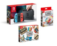 Nintendo Labo Variety Kit, Customization Set, and Nintendo Switch Console with Neon Joy Con Bundle