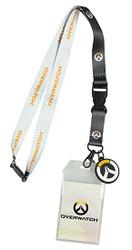 Bioworld Overwatch Logo Lanyard with Charm, ID Holder Key, Ring