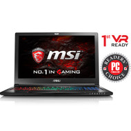"MSI GS63VR STEALTH PRO-002 15.6"" MAX Q Gaming Laptop - Core i7-7700HQ Kabylake, 32GB RAM, 1TB HDD + 512 SSD, GTX1070 8G VRAM, VR Ready, Win 10 Pro (Open Box)"