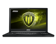 "MSI 15.6"" Mobile Workstation WS63 8SL-016 - Core i7 8750H, FHD, Win 10 Pro, 32 GB RAM, 256 GB SSD NVMe + 1 TB HDD, Quadro P4200 - 802.11ac, Bluetooth, aluminum black"