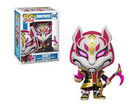 From Fortnite, Drift, as a stylized POP vinyl from Funko! Figure stands 3 3/4 inches and comes in a window display box. Check out the other Fortnite figures from Funko! Collect them all!