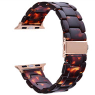 Tortoise Resin Band Bracelet for Apple Watch Series 4/3/2/1 (38mm/40mm)