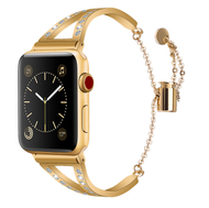 LUXE Gold Metal Band Bracelet with Rhinestones for Apple Watch 42mm Series 5/4/3/2/1