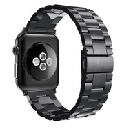 LUXE Black Metal Link Stainless Steel Band for Apple Watch 38MM Series 5/4/3/2/1