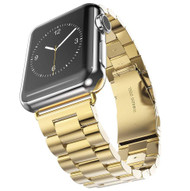 LUXE Gold Metal Link Stainless Steel Band for Apple Watch 38MM Series 5/4/3/2/1