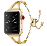LUXE Gold Metal Band Bracelet for Apple Watch 38mm Series 4/3/2/1
