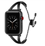 LUXE Black Metal Band Bracelet for Apple Watch 42mm Series 4/3/2/1