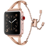 LUXE Rose Gold Metal Band Bracelet for Apple Watch 38mm Series 4/3/2/1