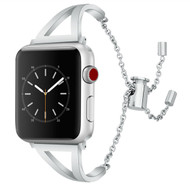 LUXE Silver Metal Band Bracelet for Apple Watch 38mm Series 4/3/2/1