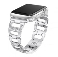 LUXE Silver Stainless Steel Bling Band Bracelet for Apple Watch 38mm Series 5/4/3/2/1
