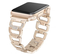 LUXE Gold Stainless Steel Bling Band Bracelet for Apple Watch 38mm Series 5/4/3/2/1