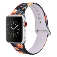 LUXE Black Silicone Printed Band for Apple Watch 42mm Series 5/4/3/2/1