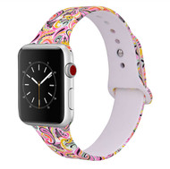 LUXE White Silicone Printed Band for Apple Watch 42mm Series 5/4/3/2/1