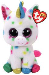 TY Beanie Boos - HARMOINE the Unicorn (Glitter Eyes) (Regular Size - 6 in)