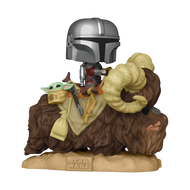 Funko POP! Deluxe: The Mandalorian - Mandalorian on Bantha with Child in Bag
