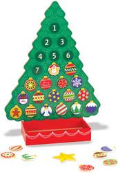 Melissa & Doug Wooden Advent Calendar - Magnetic Christmas Tree, 25 Magnets
