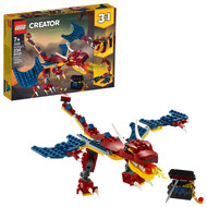 LEGO Creator 3in1 Fire Dragon 31102 Building Kit for Kids (234 Pieces)