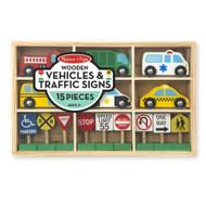 Melissa & Doug® Wooden Vehicles & Traffic Signs