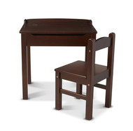 Melissa & Doug Lift-Top Desk & Chair - Espresso Children's Furniture