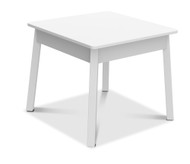 Melissa & Doug Wooden White Square Table – Kids Furniture for Playroom
