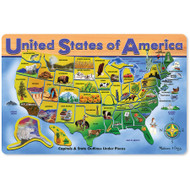 Melissa & Doug USA Map Wooden Puzzle, 45pc