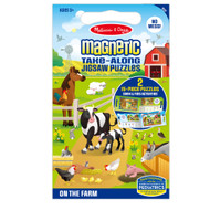 Melissa & Doug Take-Along Magnetic Jigsaw Puzzles Travel Toy – On the Farm (2 15-Piece Puzzles)
