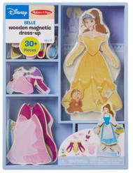Melissa & Doug Disney Belle Magnetic Dress-Up Wooden Doll Pretend Play Set (30+ pcs)