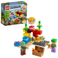 LEGO Minecraft The Coral Reef 21164 Featuring Alex, a Drowned and 2 Cool Puffer Fish (92 Pieces)