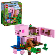 LEGO Minecraft The Pig House 21170 Featuring Alex, a Creeper and a House (490 Pieces)