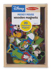 Melissa & Doug Disney Mickey Mouse Wooden Character Magnets (20 pcs)