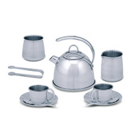 Melissa & Doug® Stainless Steel Tea Set and Storage Stand, 11 Pieces