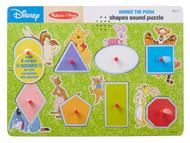 Melissa & Doug Disney Winnie The Pooh Shapes Sound Puzzle - Wooden Peg Puzzle (8 Pieces)