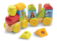Melissa & Doug Disney Winnie The Pooh Wooden Stacking Train, 14 Pieces